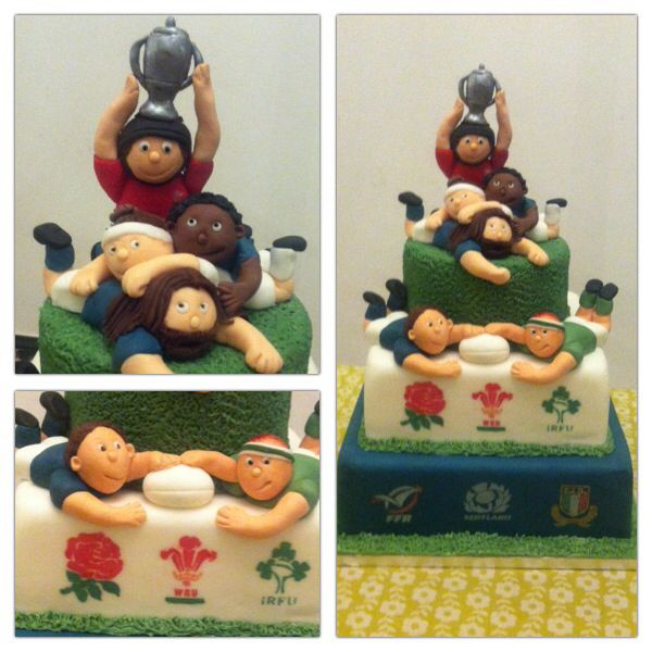 6 Nations Rugby cake