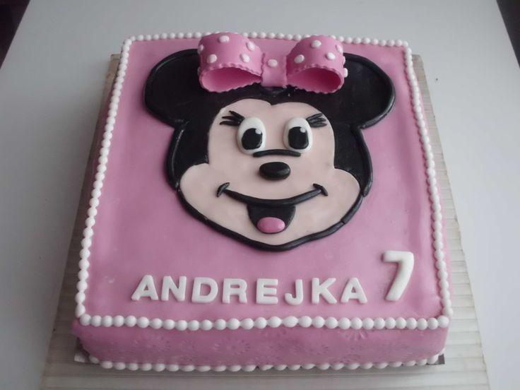 Dort marcipánový ♥ Minnie - Mickey Mause