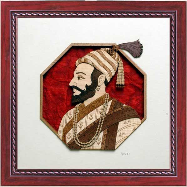 Shivaji Maharaj: woodcraft: srujanart.com