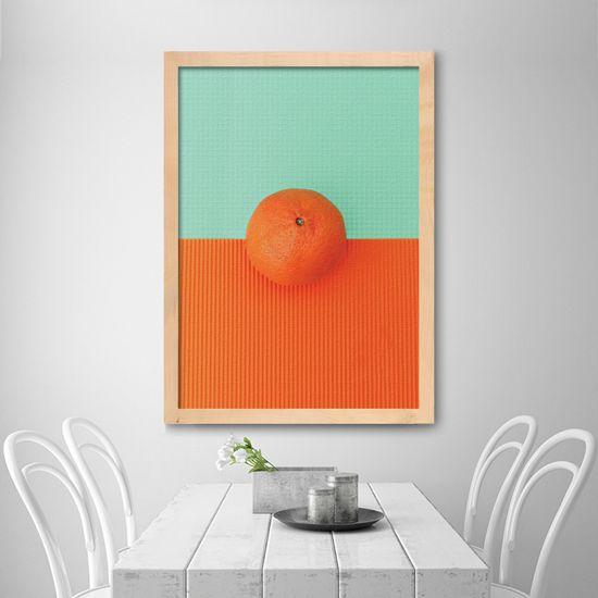 Πίνακας πορτοκάλι σε φωτεινό φόντο! Μινιμαλιστική Μόδα! #foodanddrinkcanvas #πίνακεςφαγητού #minimaldecoration #orange
