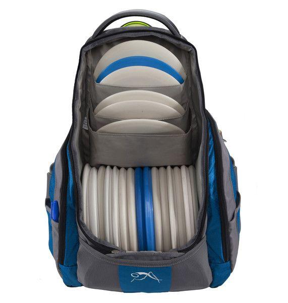 The Rebel Disc Golf Backpack Bag in Mykonos Blue