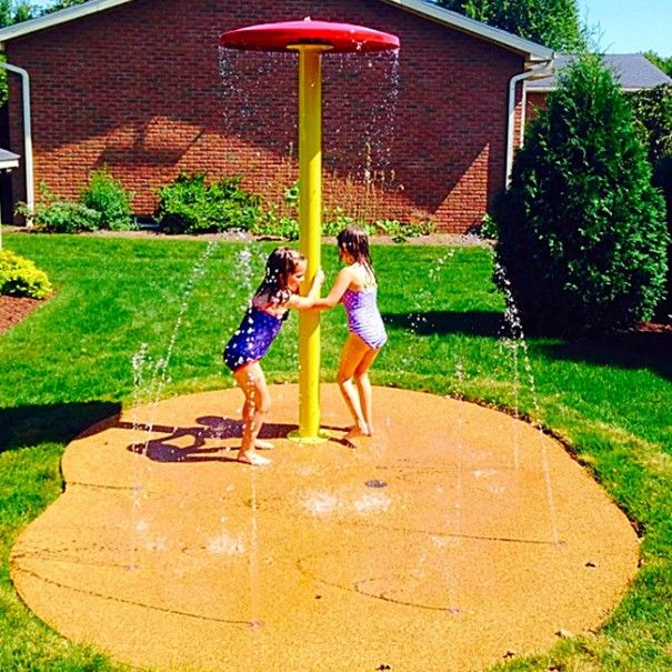The wait is over! You do not have to wait 30 days after your backyard splash pad is installed for the concrete to cure to get your safety surface! We have innovated a way to install your surface at the time of your home splash pad! http://mysplashpad.net/backyard-splash-pad-without-the-wait/