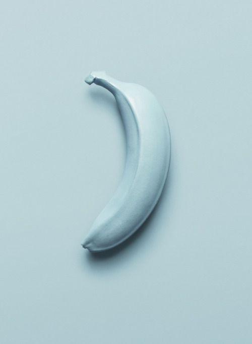 We R Stubborn Via Fruit On Behance Banana Blue Aesthetic Everything Is Blue Color