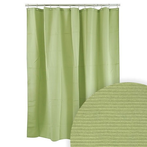 Harman Green Ribbed Shower Curtain