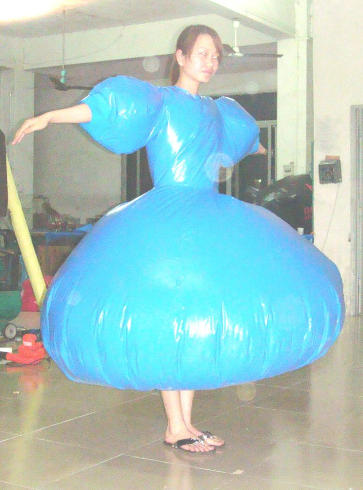 duplex inflatable dress by puncturegown