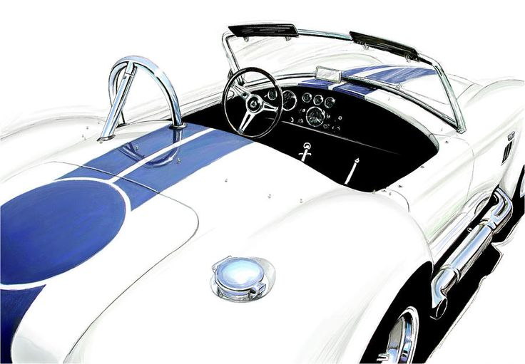 White Ac Cobra Digital Art by David Kyte