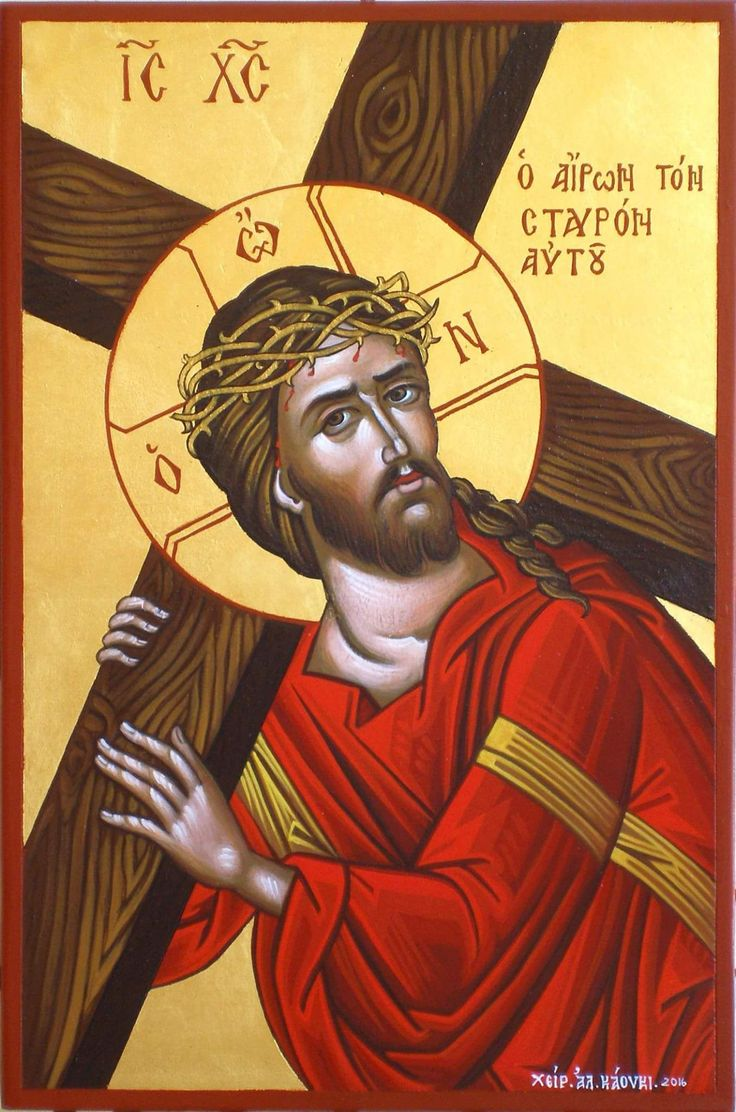 Christ the Bridegroom carrying the Cross by Alexandra Kaouki of Crete