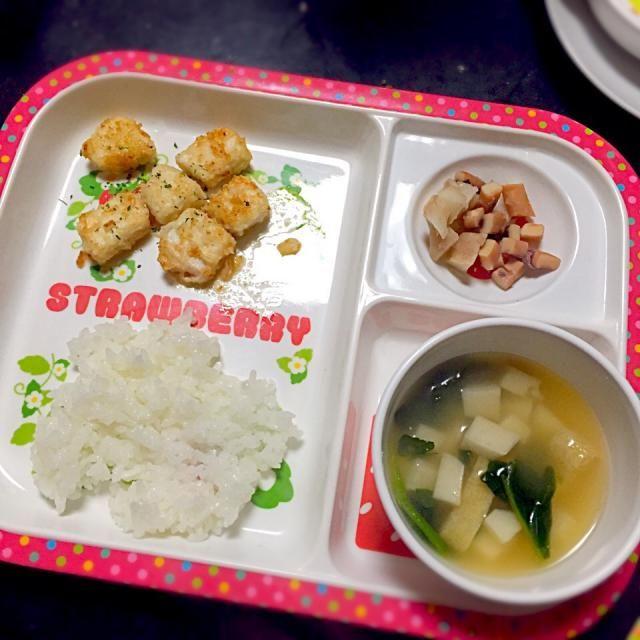 めかじきのバターソテー 里芋の煮っ転がし 里芋とほうれん草の味噌汁 - 5件のもぐもぐ - 子どもごはん by mamekoon