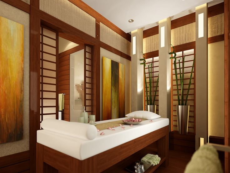 Asian Inspired Massage Room Idea Spa D Cor Pinterest Wood Trim Caves And Storage Shelves