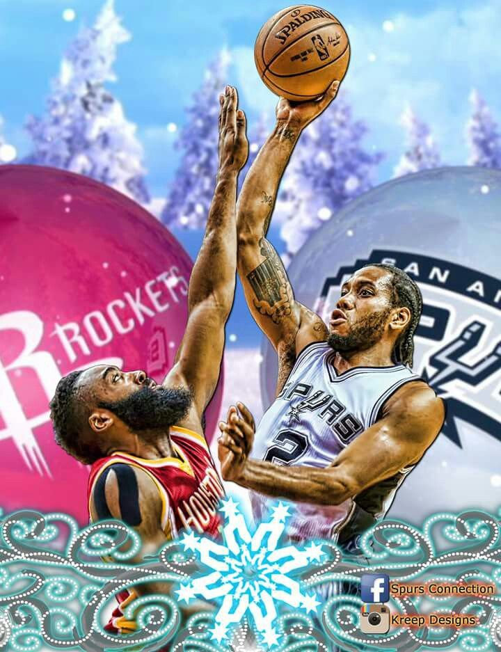 Spurs vs Rockets. Go Spurs Go. Kawhi Leonard