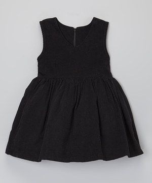 Loving this Black Corduroy Jumper Dress - Toddler & Girls on #zulily! #zulilyfinds