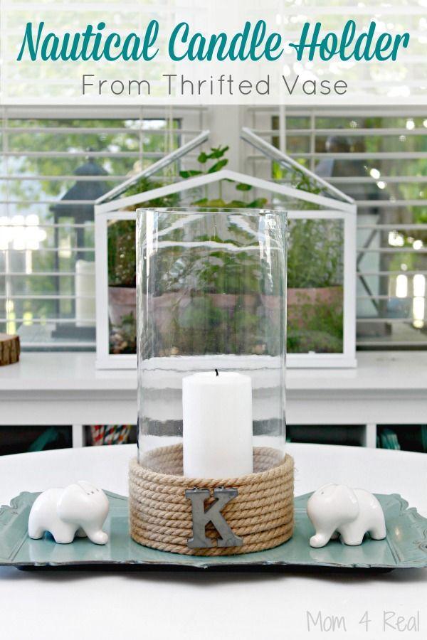 Nautical-Candle-Holder-Thrifted-Vase