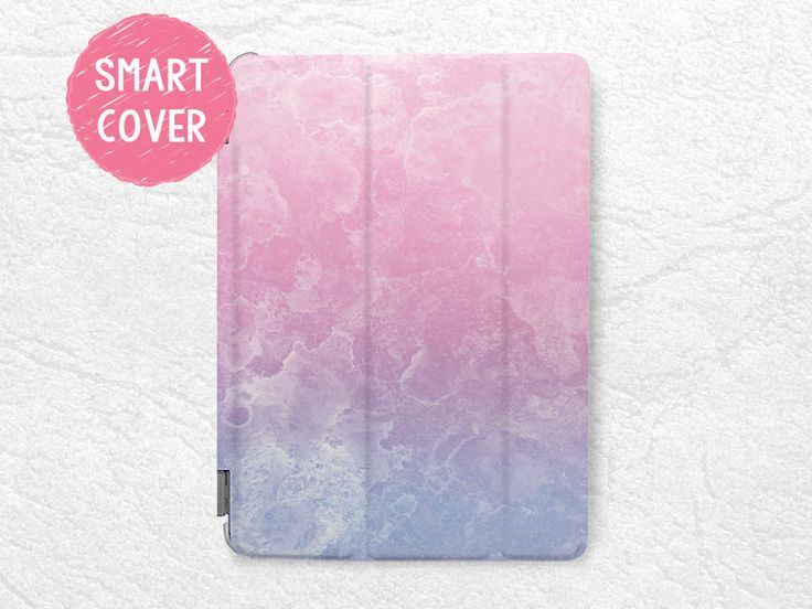 Pastel Color Pink Purple Smart Cover for iPad Mini, iPad Mini 2 retina, iPad Mini 3, iPad Mini 4 tablet Smart cover with back case -X19