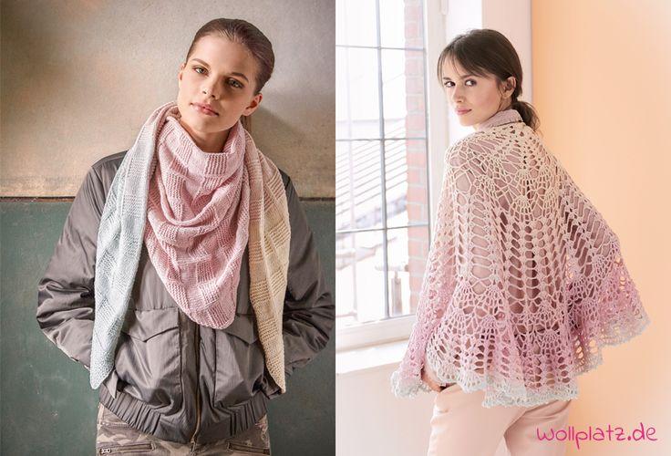 Wir stellen Ihnen Tücher aus Shades of Merino Cotton vor, ein Verlaufsgarn von Lana Grossa mit genau den richtigen Farben für den kommenden Herbst.