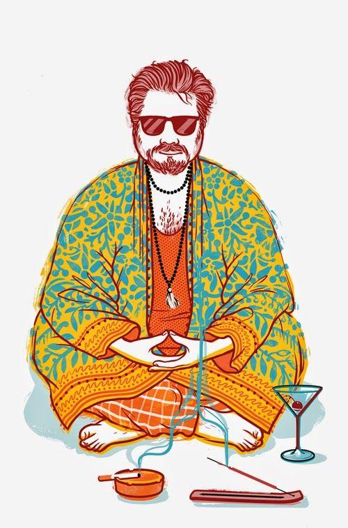 """""""The guru"""" cover illustration for """"Il privilegio di essere un guru"""", Lorenzo Licalzi book, Bur Rizzoli. Read more here: http://www.lasemiretta.blogspot.it/2014/07/il-privilegio-di-essere-un-guru-cover.html www.paolarollo.com"""