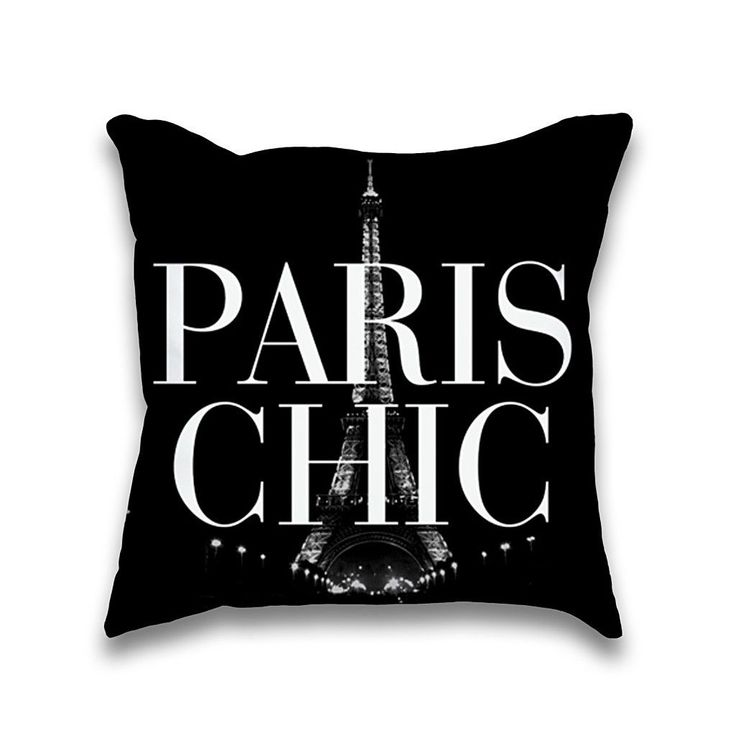 Paris Chic Eiffel Tower Print Throw Pillowcase Only