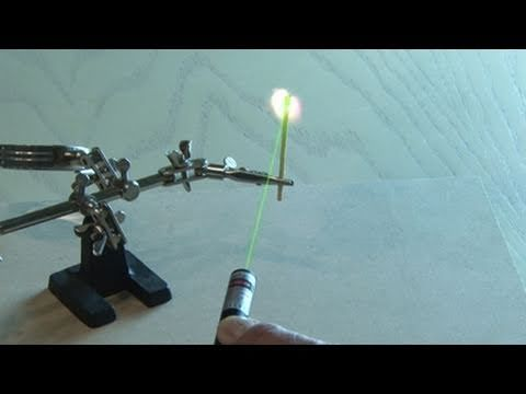 Make a Laser Pointer Burn! - YouTube