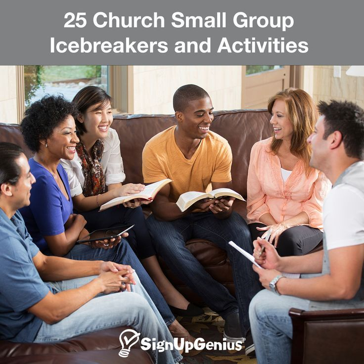 25 Church Small Group Icebreakers and Activities. Help your group get to know each other better to encourage spiritual development and conversations.