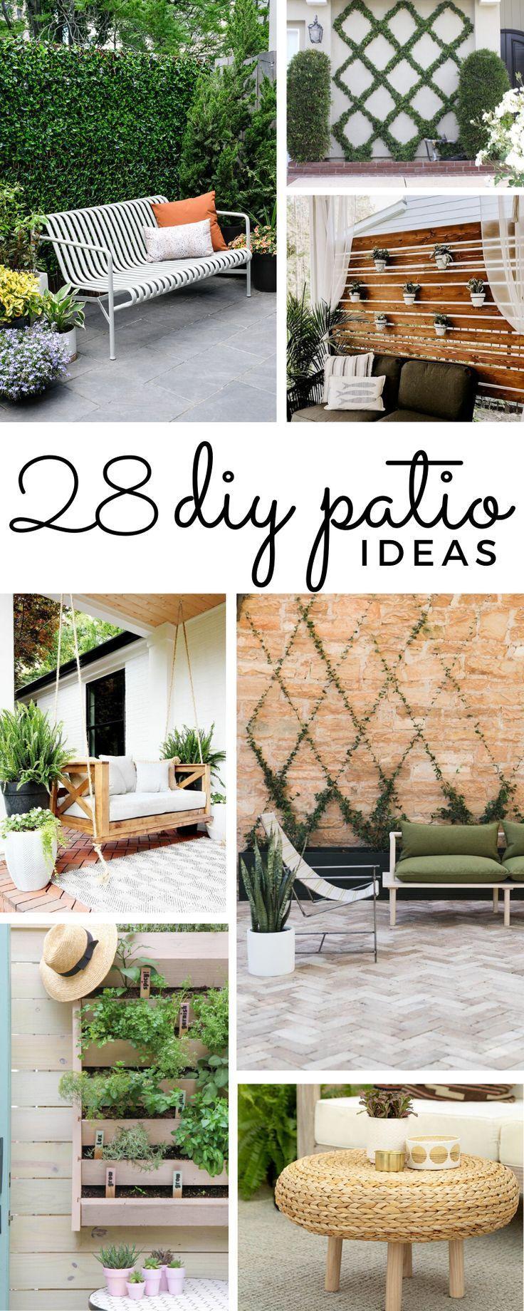 28 Easy Diy Patio Ideas To Transform Your Backyard Diy Backyard Patio Easy Patio Patio Decorating Ideas On A Budget Backyard diy projects on a budget