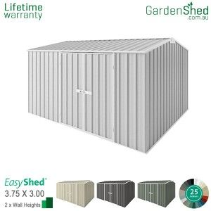Easyshed Premier3 75m X 3 00mgable Triangle With Images Simple Shed Aluminium Cladding Roll Forming