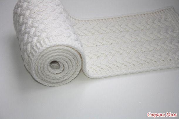 Способ вывязывания края в шарфах и пледах