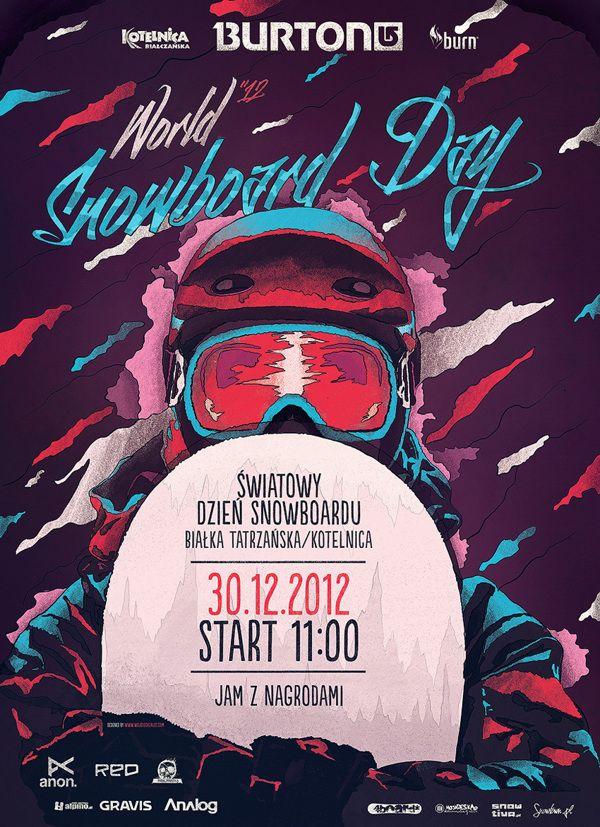 Burton Snowboards 2012 by Wojciech Zalot, via Behance