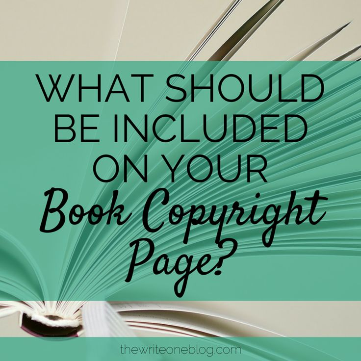What Should Be On Your Book Copyright Page?