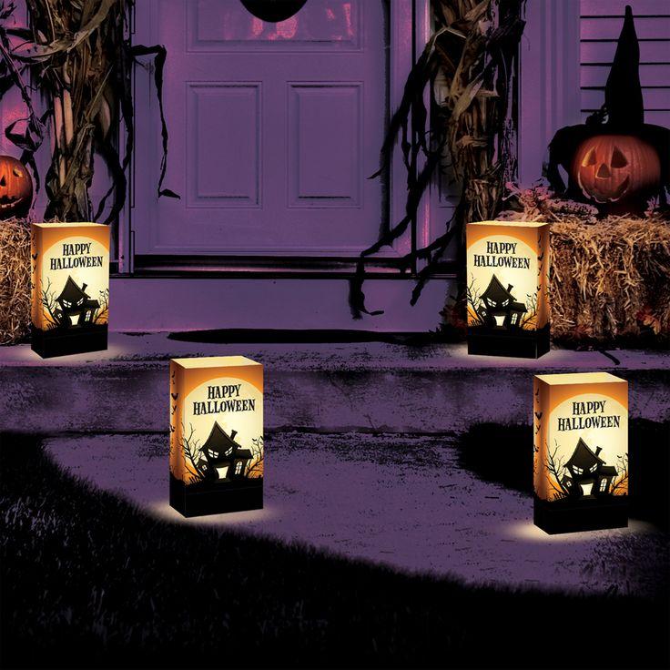 walkway halloween luminarias httpwwwlumabasecomcategories halloween lightingwalkwaydecorations - Halloween Pathway Lights