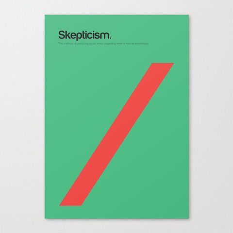 Philographics Poster - Skepticism