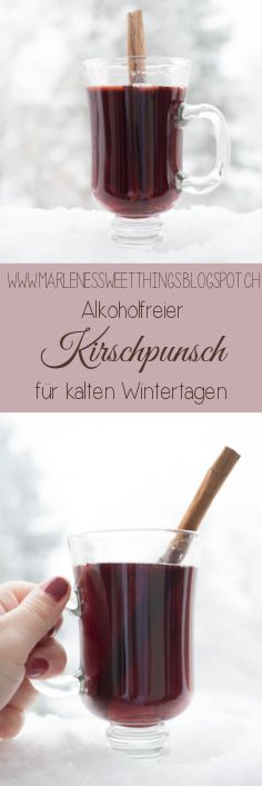 Alkoholfreier Kirschpunsch