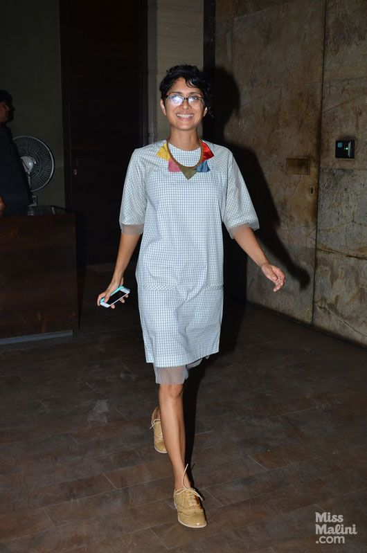 Kiran Rao nails the subtly-chic look in #sneakers and #checks. Love the neck piece too! She is wearing #Bodice!