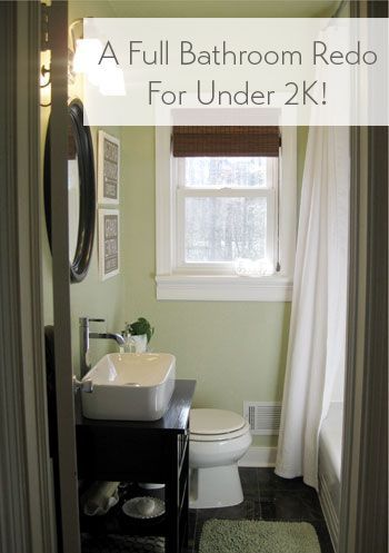 Bathroom makeover details (& budget breakdown)
