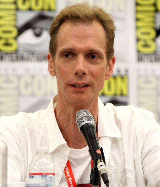 Doug Jones (born May 24, 1960) is an American actor and former contortionist known for roles in the science fiction, fantasy and horror genres, often wearing heavy makeup to play nonhuman characters. He has collaborated with filmmaker Guillermo del Toro, starring in Mimic, as Abe Sapien in Hellboy and Hellboy II: The Golden Army, the Faun and the Pale Man in Pan's Labyrinth, Crimson Peak, and the Amphibian Man in The Shape of Water.