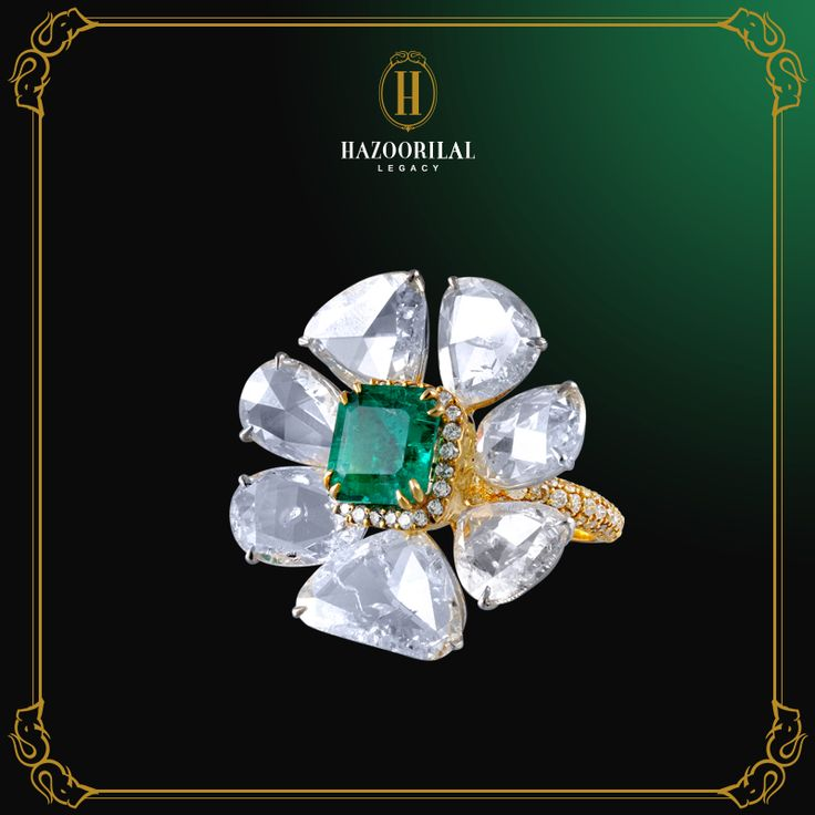 #LegacyOfDiamonds : A token of love that speaks louder than words. #ALegacyOfLoveByHL #HazoorilalLegacy #Hazoorilal #Diamond #Ring #Emerald