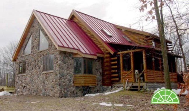 Stone log cabin thompson additions pinterest for Stone log cabin