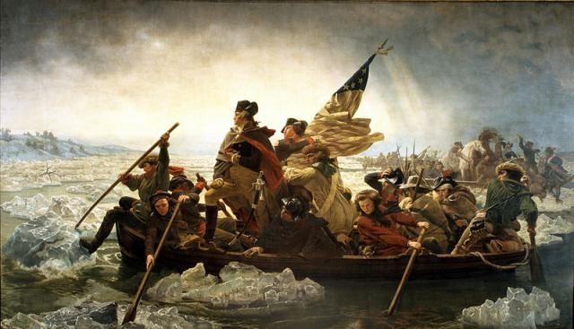 """La independencia de Estados Unidos: """"Washington cruzando el Delaware"""" por Emanuel Leutze (1851)"""