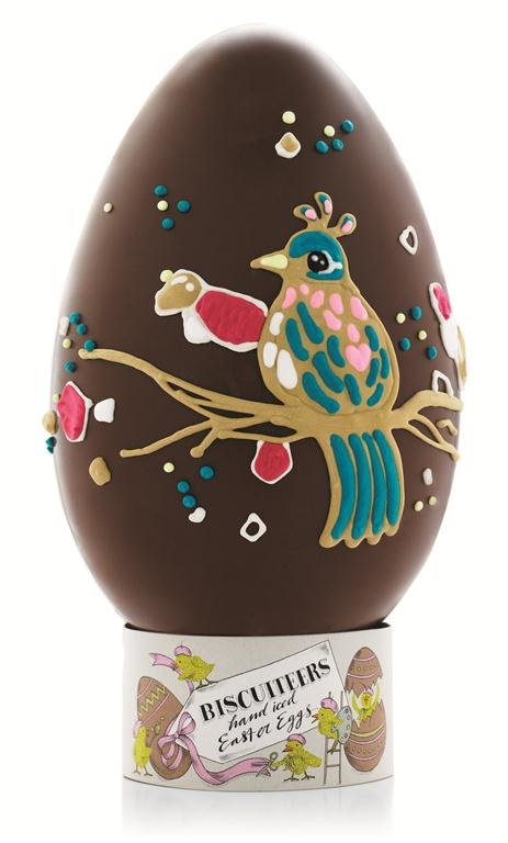 Personalised Bird of Paradise hand-iced chocolate egg by the Biscuiteers, Easter