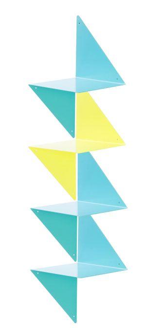 3d tag re modulable en m tal pli bleu turquoise 3d est - Etagere murale bleu turquoise ...