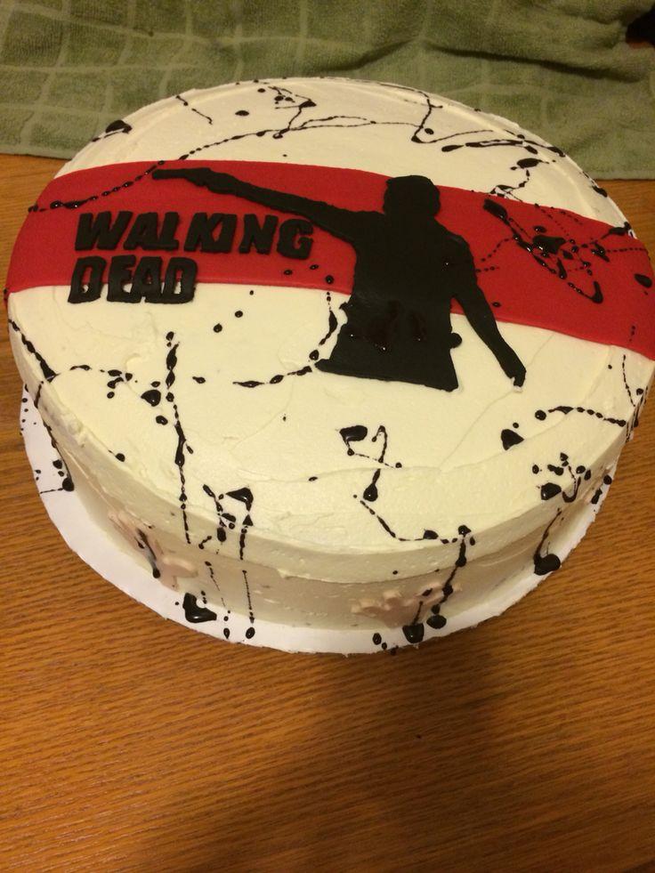 """12"""" Walking Dead Cake"""