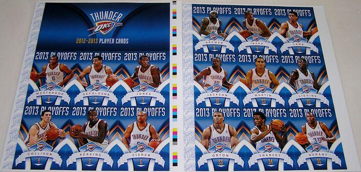 Oklahoma City Thunder 2012-13 Playoffs Team Uncut Sheets Russell Westbrook #OklahomaCityThunder