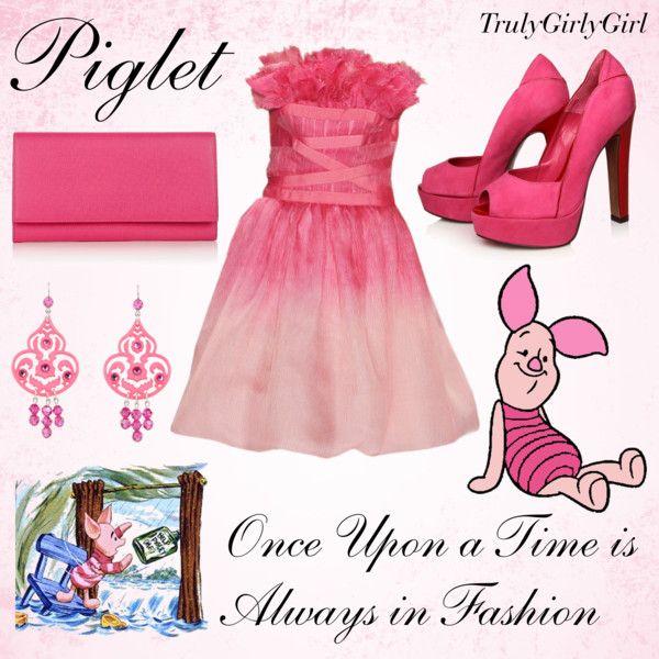 Disney Style: Piglet, created by trulygirlygirl