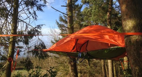 Camping in mid-air! #camping #glamping #quirkyaccommodation #quirkyholiday #Norfolk