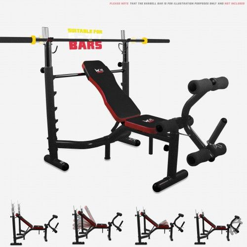 BenchXPower 2 Premium Heavy Duty Weight Bench BLACK-RED
