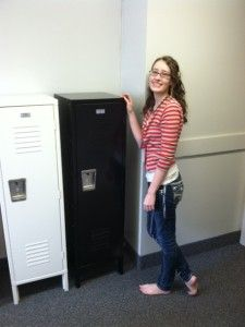 Kids Lockers - Just How Affordable And Big Are They?   School Lockers Blog... Cute for a sports themed room!!!