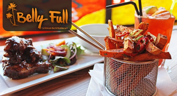 51% off fabulous #Caribbean dining for two including Rum Punch cocktails at Belly Full #Chester
