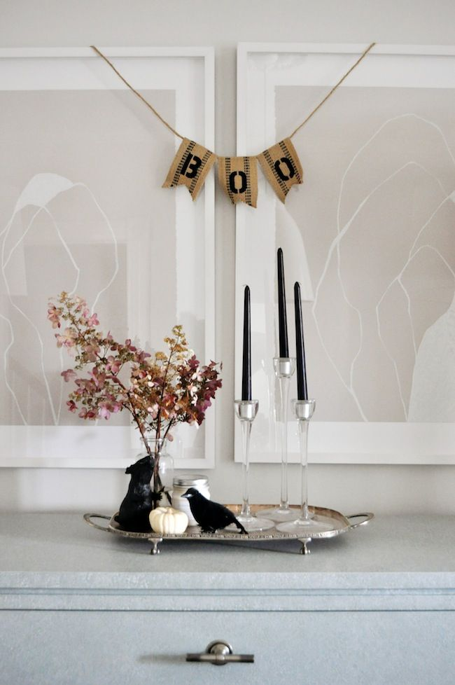 Elegant Halloween Decor lark  linen #halloweendecor FALL IN - classy halloween decor
