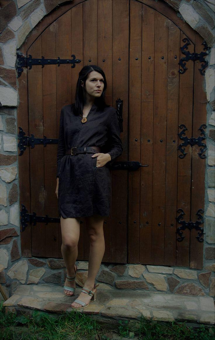 Linen Dress, Loose Dress, Long Shirt, Sustainable fashion, Ethical closet, Slow fashion