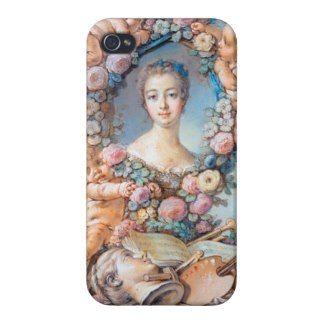 Madame de Pompadour François Boucher rococo lady Case For iPhone 4 #madame #pompadour #pastel #portrait #boucher #Paris #France #classic #art #custom #gift #lady #woman #girl