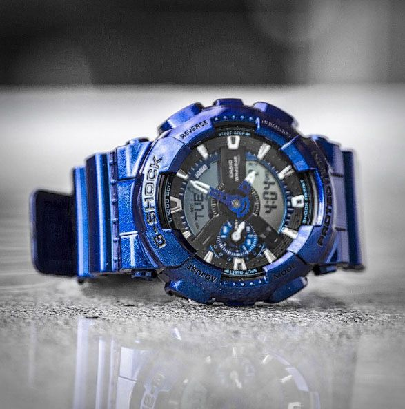 Throwing it back to the brilliance of the G-SHOCK neo-metallic GA110NM-2A.