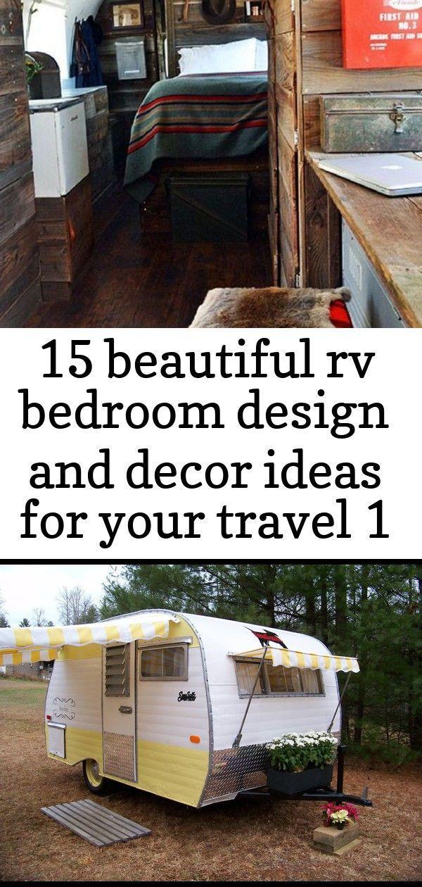 15 Beautiful Rv Bedroom Design And Decor Ideas For Your Travel 1 15 Beautiful Rv Bedroom Design An In 2020 Bedroom Design Traveling By Yourself Beautiful Bedroom Decor